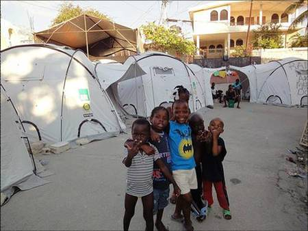 ShelterBox tents in Haiti