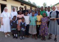 Staff and children at Upendo