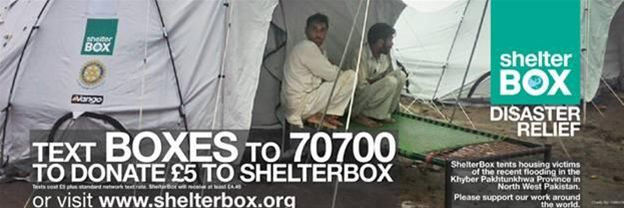 Text a fiver to Shelterbox