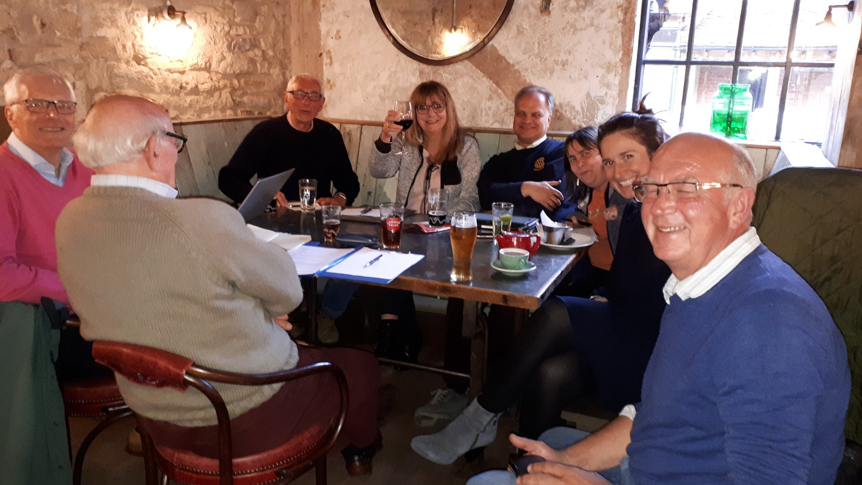 Another convivial meeting of Rotary in Abingdon