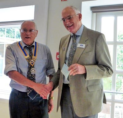 Presentation of cheque to John Grundy Oxford Prostate Cancer Support Group here...