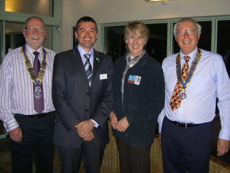 The Presidents of Swindon North & Swindon Thamesdown with Patrick Weaver (NSPCC) and Shirley Ludford
