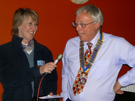 Shirley Ludford interviews President Terry