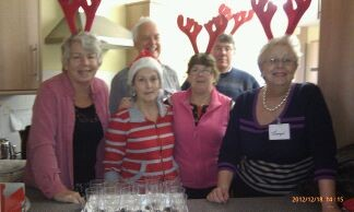 Rotarians & helpers at the Memory Caf� Christmas Party 2012
