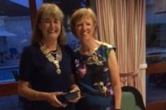 L-R: Inner Wheel President Sue Whalley & Past President Amanda Milstead