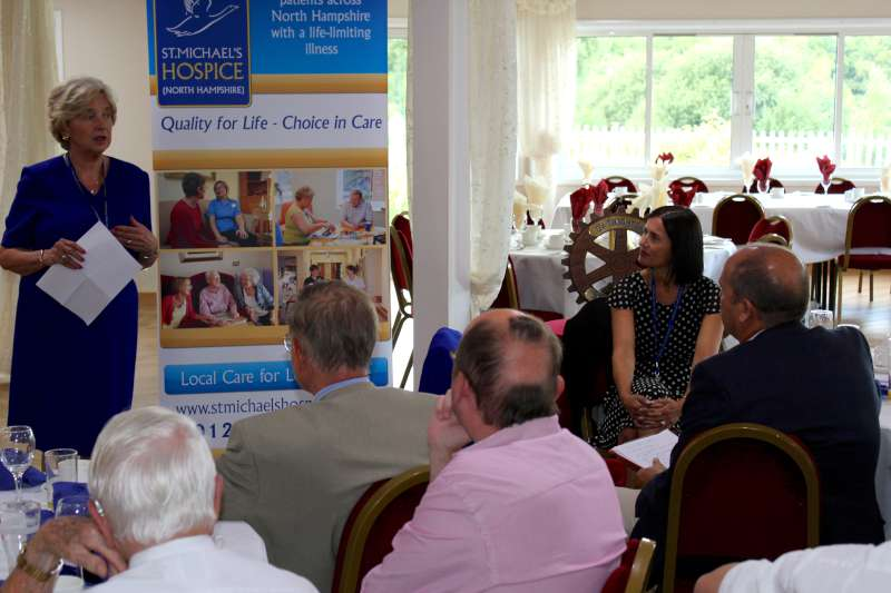 St Michael's Hospice Speakers at Club Meeting