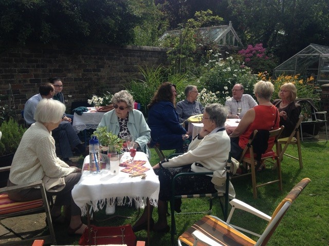 Some of the guests enjoying the afternoon