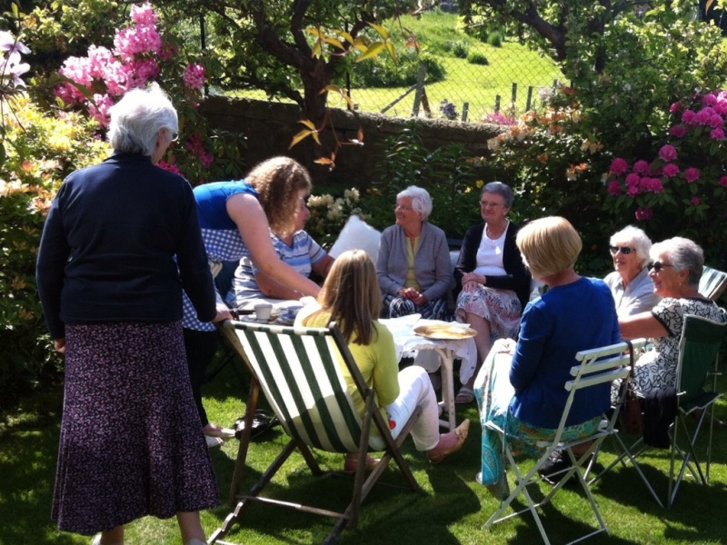 Guests at President Caroline's Afternoon Tea