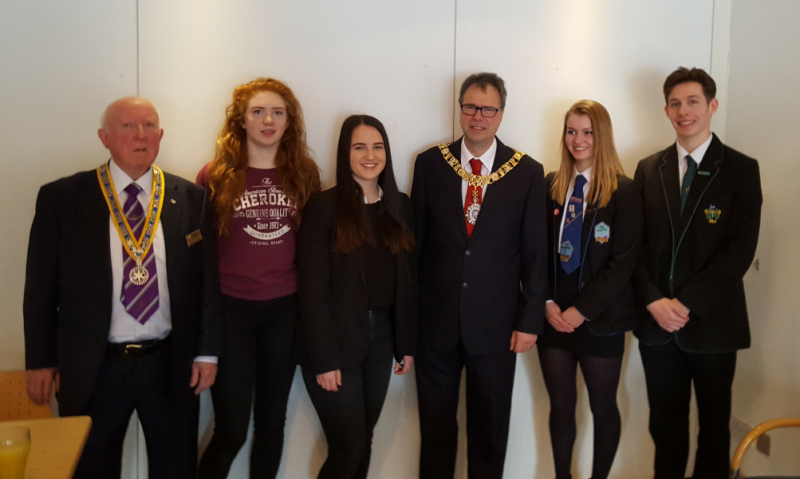 Lord Provost of Edinburgh and four Georgia Scholars
