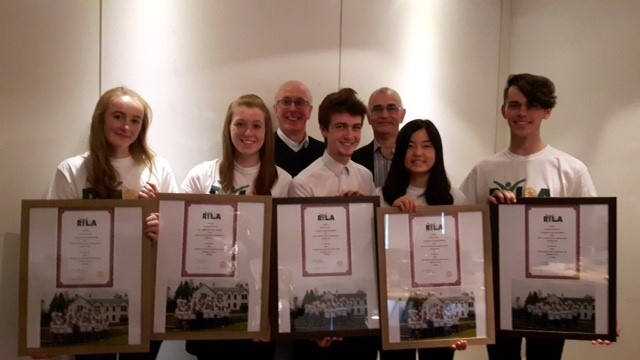 RYLA Students with their certificates.