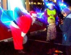 Santa greets children at Charwood Restaurant