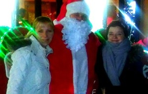 Santa with some of the children's mums at the Charwood.