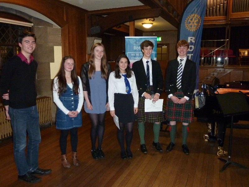 Finalists ion the 2015 Young Musician Contest