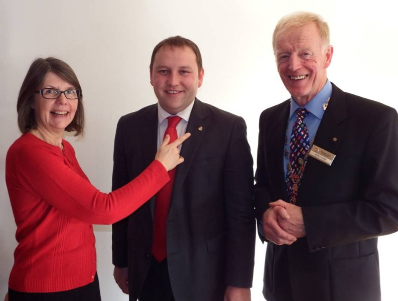 New Member Karen Tarn meets New Honorary Member Ian Murray MP with President Ken Logan