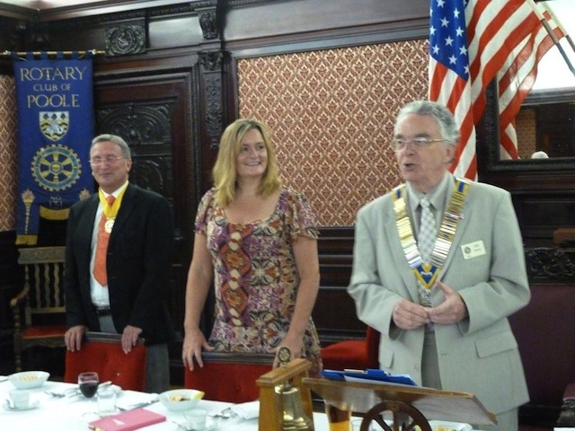Lynn tells Rotary members and partners about her walk