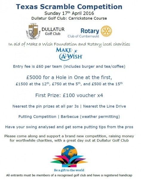 Rotary Golf Competition Poster