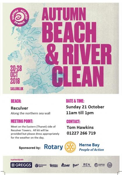 Beach clean flyer