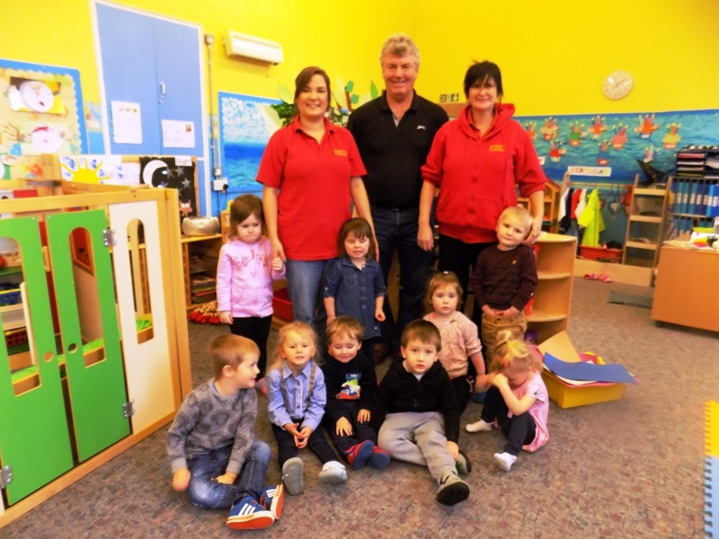 President Gordon visited the Playgroup and saw the new equipment in action
