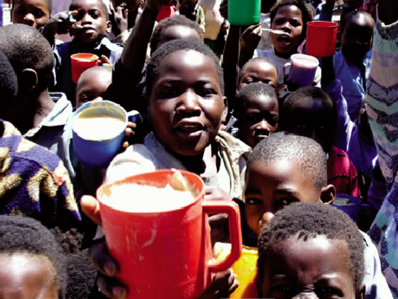 Malawi children asking for more