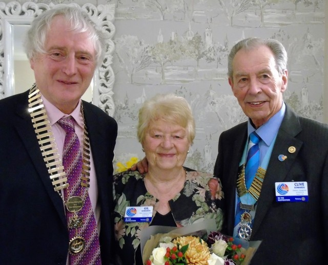9d7dffc1f55918 Clive Edwards, this year's District Governor of Rotary District 1150, which  covers South Wales and includes over 60 clubs, visited Bridgend on Monday  4th ...