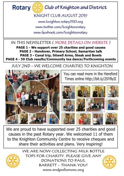 Rotary Club of Knighton & District home page