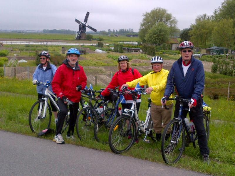 Carnegie Newsletter 4th June 2013: Charter & Pedal 4 Peace - The obligatory windmill