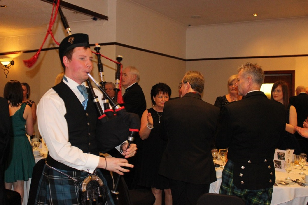 Annual Burns Supper - Piping in the haggis