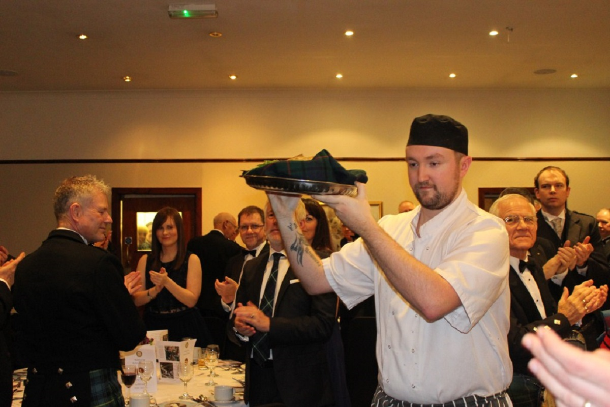 Annual Burns Supper - The haggis arrives in style