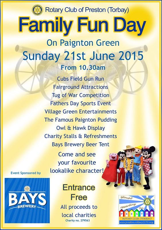 Family Fun Day - 26th June 2016 at Queen's Park - 00a Poster 2015