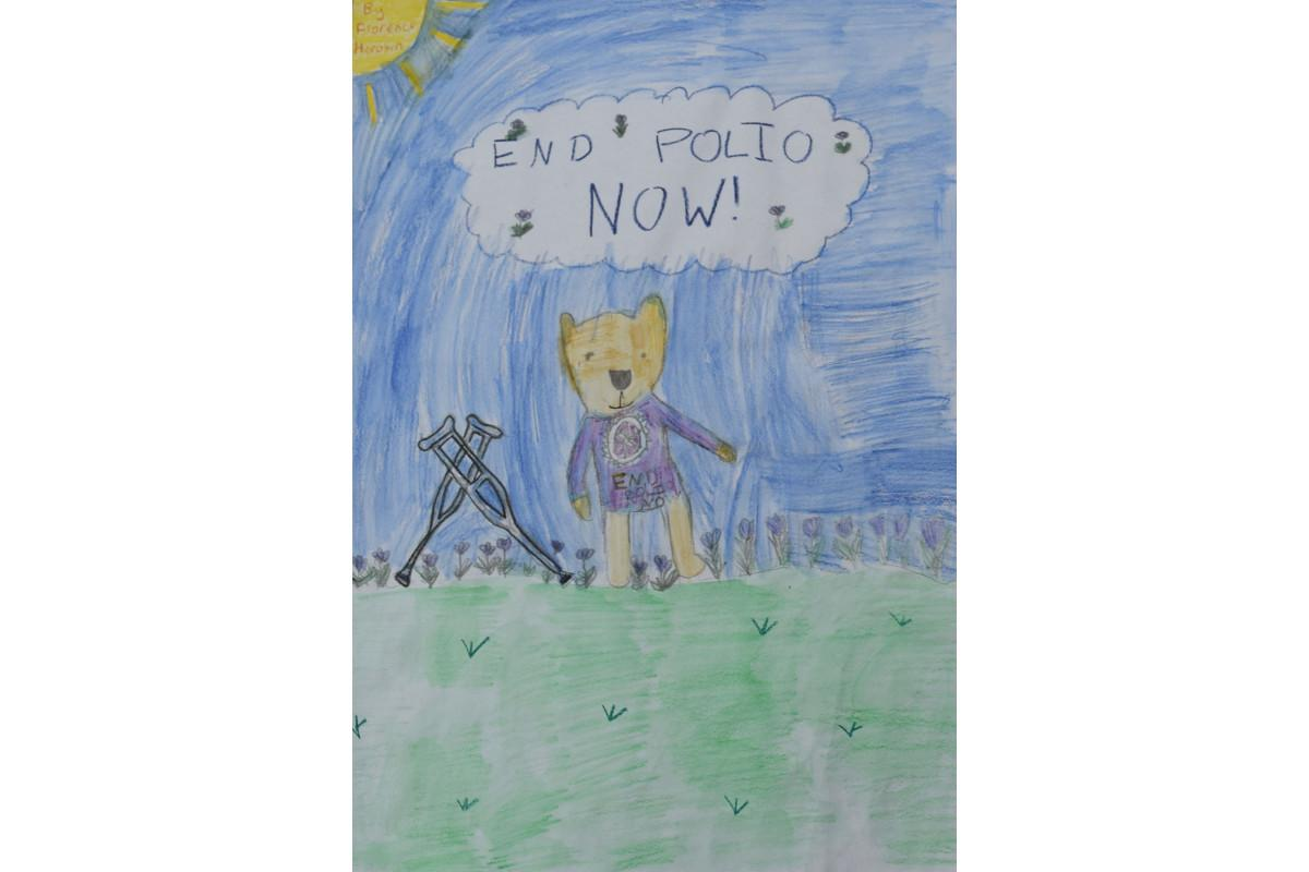 Winners of the Purple4Polio Art Award  - by Florence Horobin, age 6, from West Kidlington Primary School