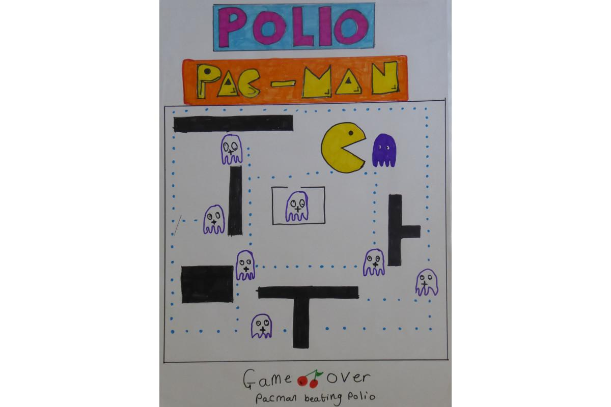 Winners of the Purple4Polio Art Award  - by Martha Lockey, age 7, from Bladon C of E Primary School