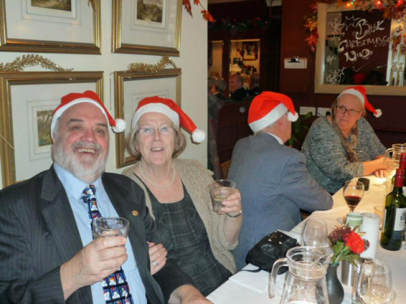 Pinner Rotary at District 1090 Carol Service - Pinner Rotarians and partners following their lunch - which was excellent !