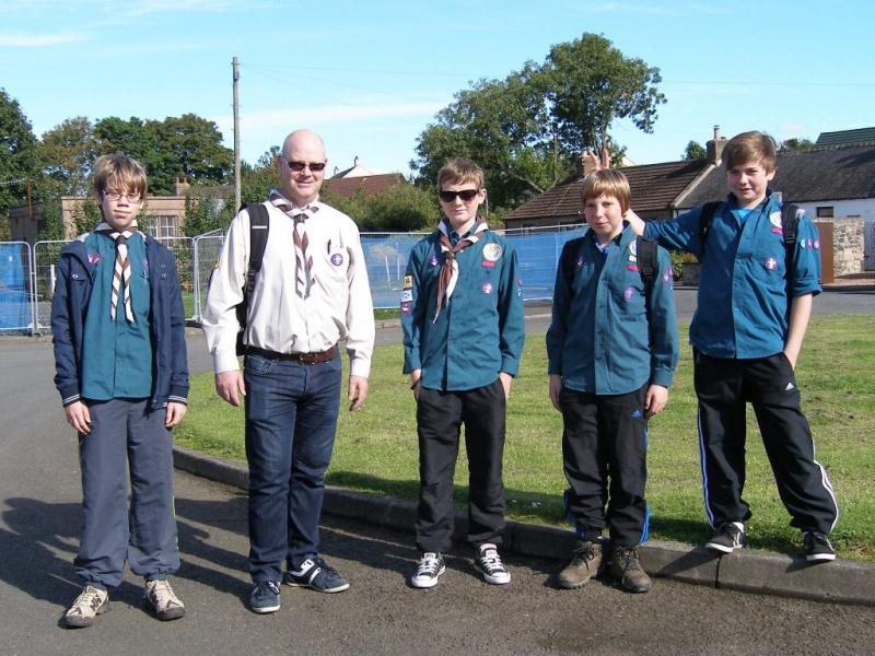 10th Fife Coastal Path Walk   September 2012 - 66th Abderdour Scouts