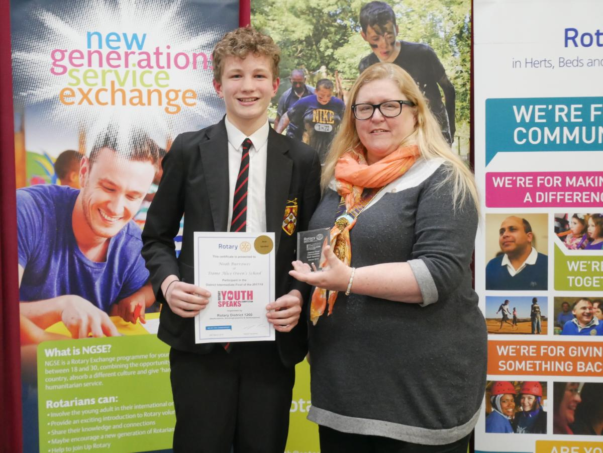 Two brilliant evenings at our District Youth Speaks Finals - Noah Burrowes, Dame Alice Owen's School