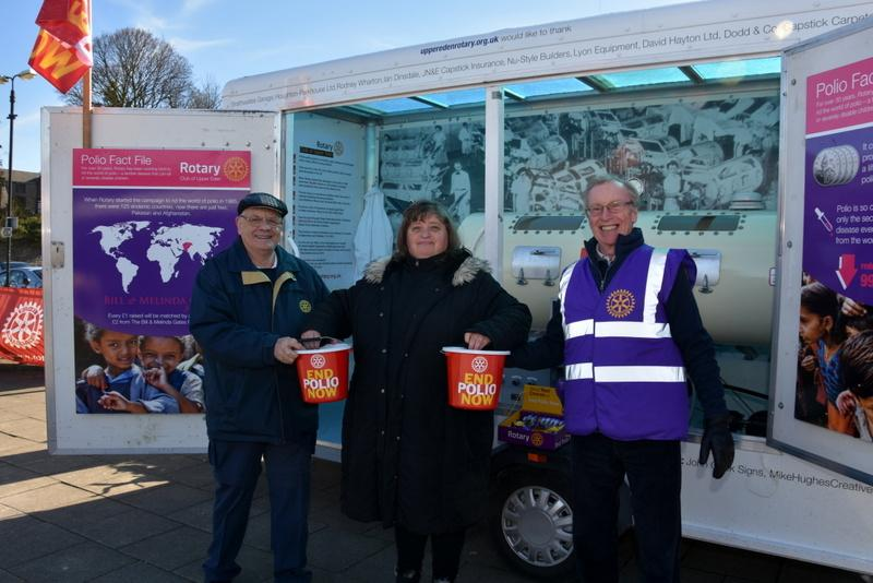 Purple4Polio at Clitheroe Market! -