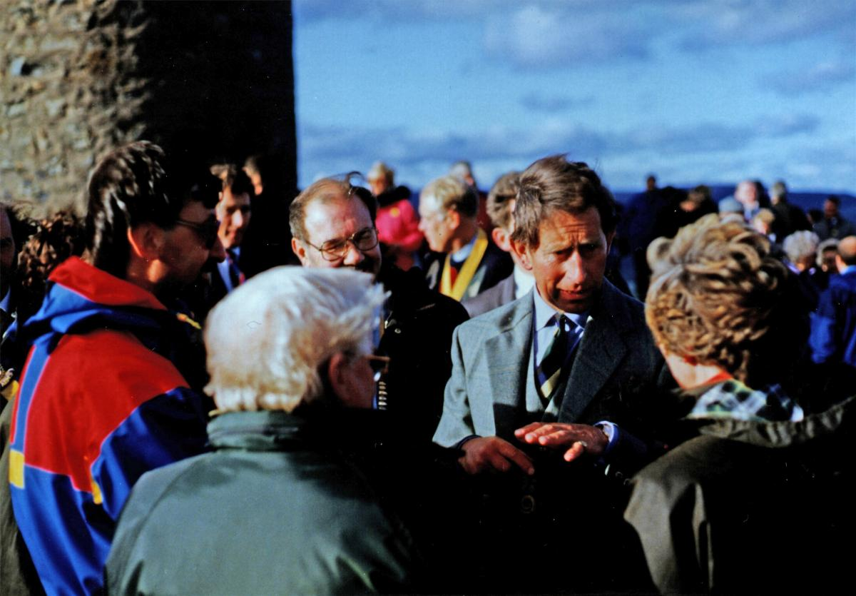 1986 Scolty Tower refurbishment - 06-005 Prince Charles Scolty Tower 1986