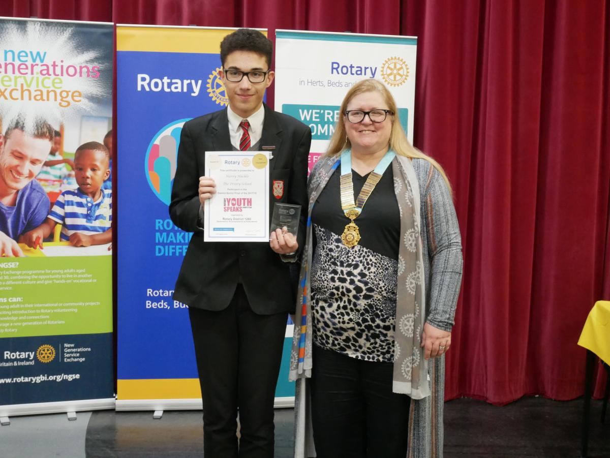 Two brilliant evenings at our District Youth Speaks Finals - Harry Huckle, The Priory School Hitchin