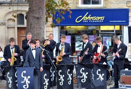 Chippy Jazz 2010 - The CNS AllStars from Chipping Norton School open the festival on the Lower Market Place.