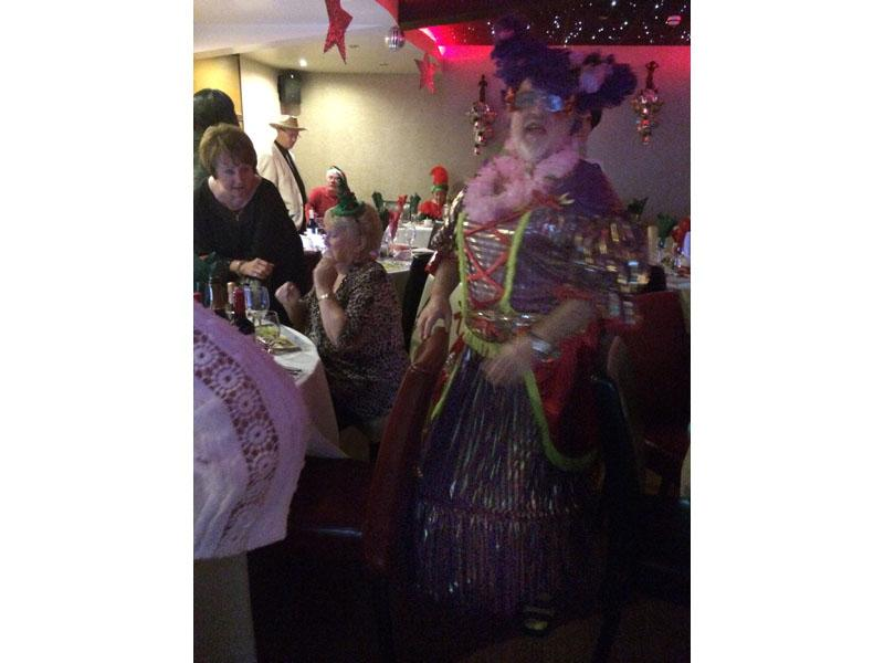 Christmas Party Panto - Gill Neale trying to ignore her husband