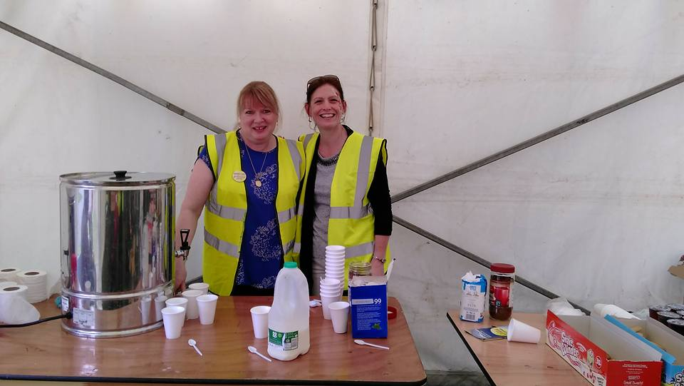 Kinship Carers June 2017 - Sue and Heather relieve Norma at the refreshment stand
