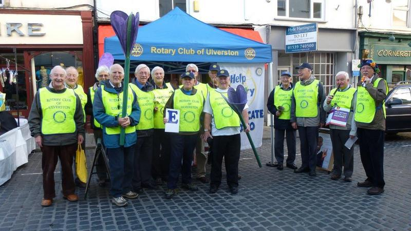 Flash Mob in Ulverston - Here we are in the Market  place before taking Ulverston by storm