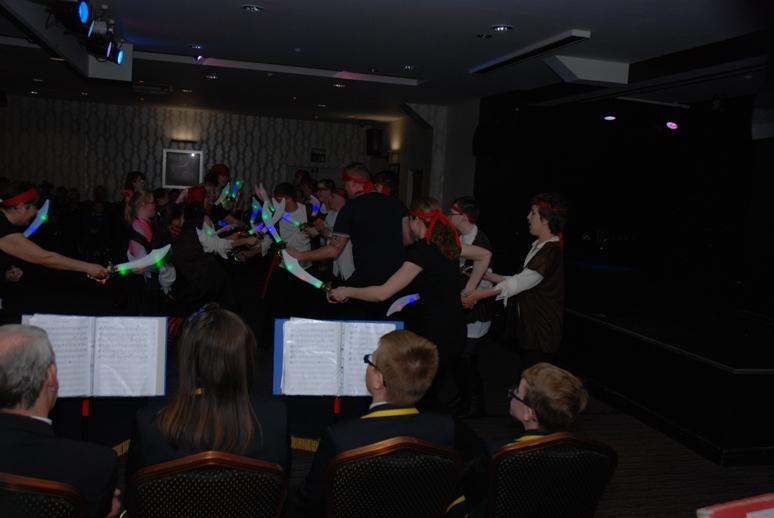 SPECIAL SCHOOLS MUSIC FESTIVAL 2015 - And the swords lit up.