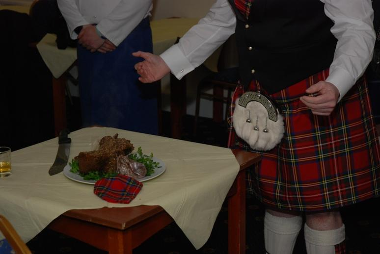 BURNS NIGHT - 2016 - But any plea from the haggis was in vain.