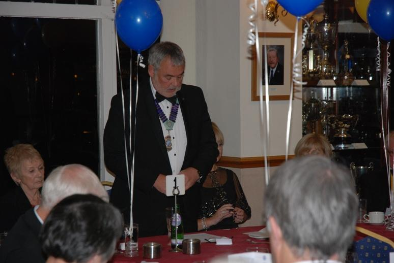 CHARTER DINNER 2016 - Rotary District Governor Malcolm Baldwin responds to Barbara's Toast and Toasts Blackpool South Rotary Club.