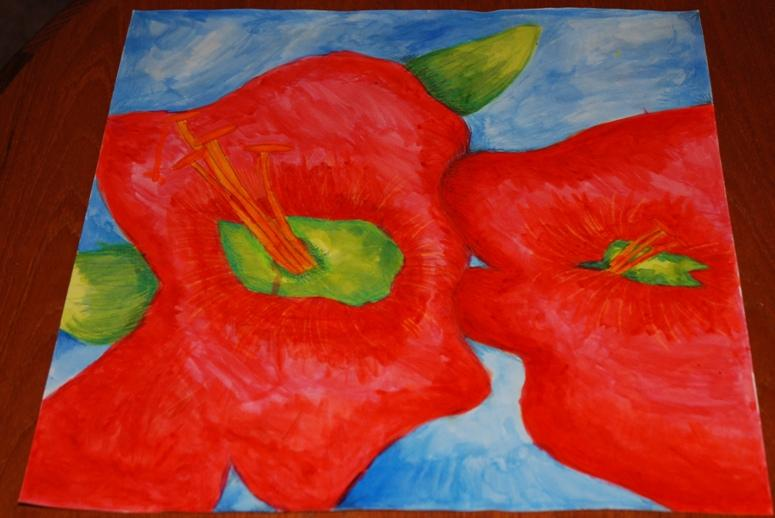 ROTARY YOUNG ARTIST 2015 -2016 - SPLASH OF SUMMER by Cassandra Casey.