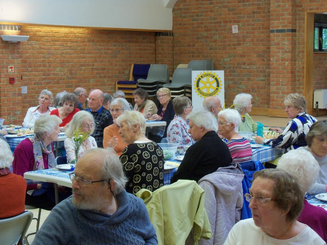 Senior Citizens Light Lunch & Afternoon Tea  - A packed hall, 68 guests attended the afternoon
