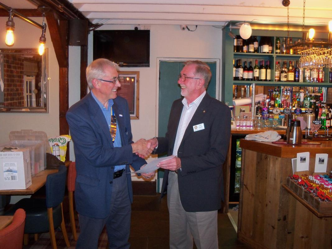 Andy Knight is inducted as a member -