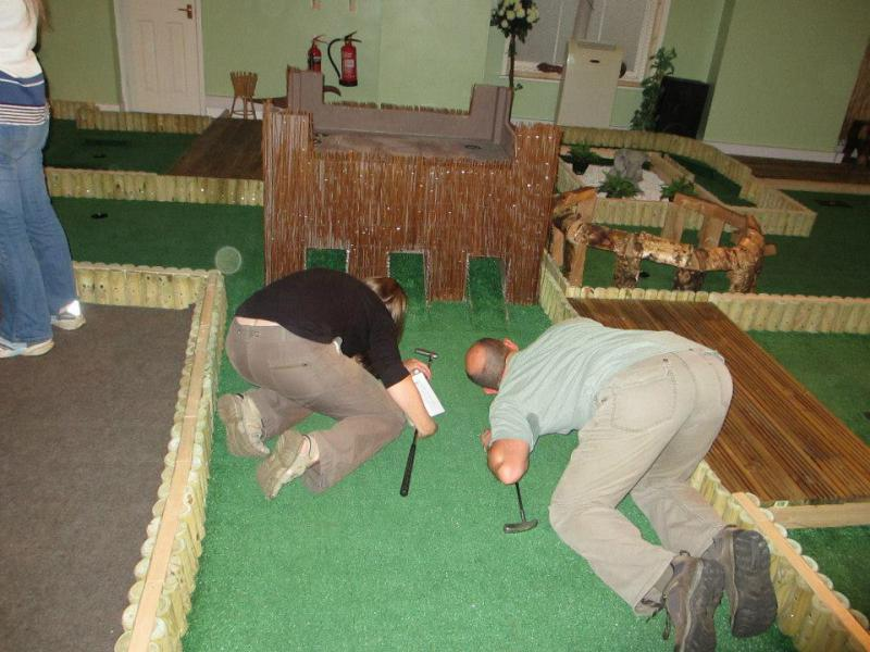 Indoor Crazy Golf - Caption competition!