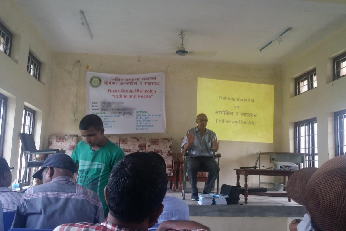 Preventing Iodine Deficiency Disease in Nepal - Training programme on iodine deficiency and health at Beltar School