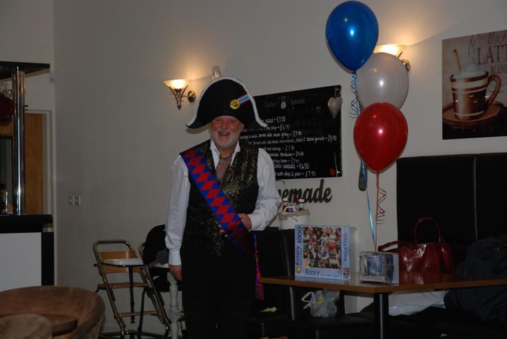 FRENCH THEMED ST VALENTINE DINNER. - Monsieur Mayor organised the raffle. How trusting we were.